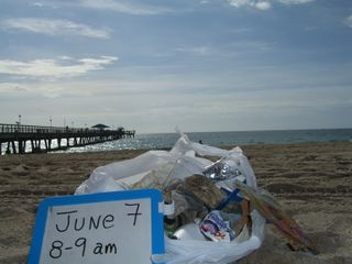 June 7, 2009 one hour & one plastic bag full of litter LBTS