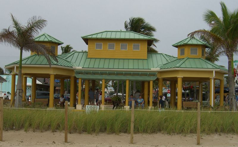 LBTS Pavillion with Sea Oats in foreground
