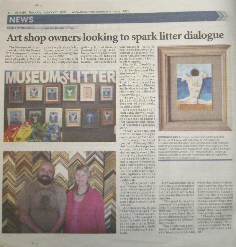 Sun-Sentinel article in East Side Forum Jan 28 2010