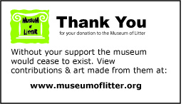 Museum of Litter Thank You Card FRONT