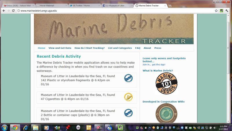 Marine Debris Tracker documentation for 1-16-12