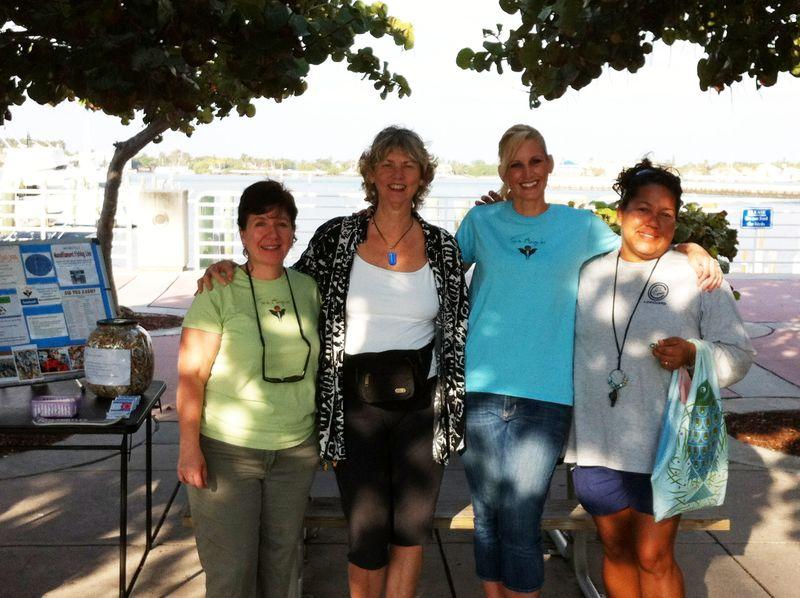Kathy Silverio, Sharon Huff, Robyn Halasz, Nina of Eco Adventures