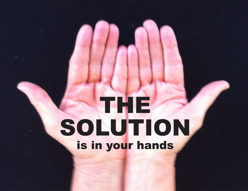 The Solution is in Your hands Graphic