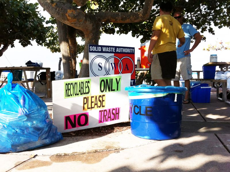 Sea Angels recyling after beach cleanup