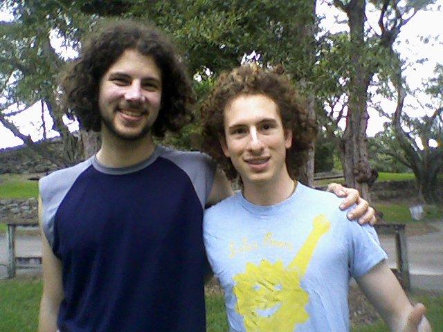 Max and Leo wearing Solar Power shirt Sharon Huff made  12 2009