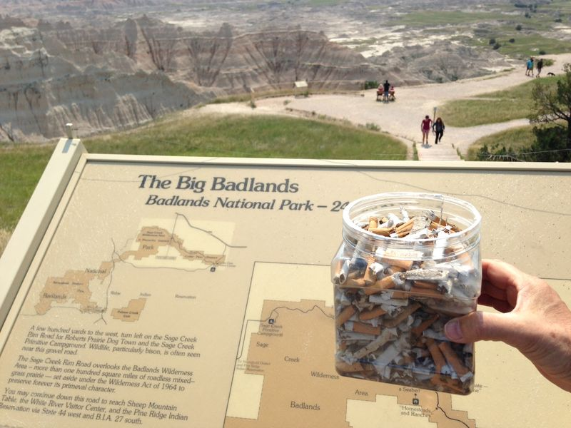Butts at Badlands NP