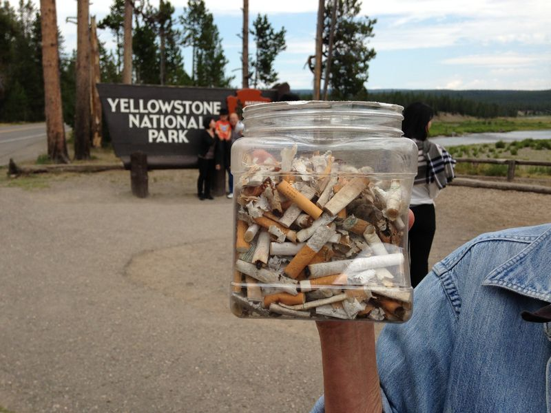 Yellowstone NP Cigarette butts