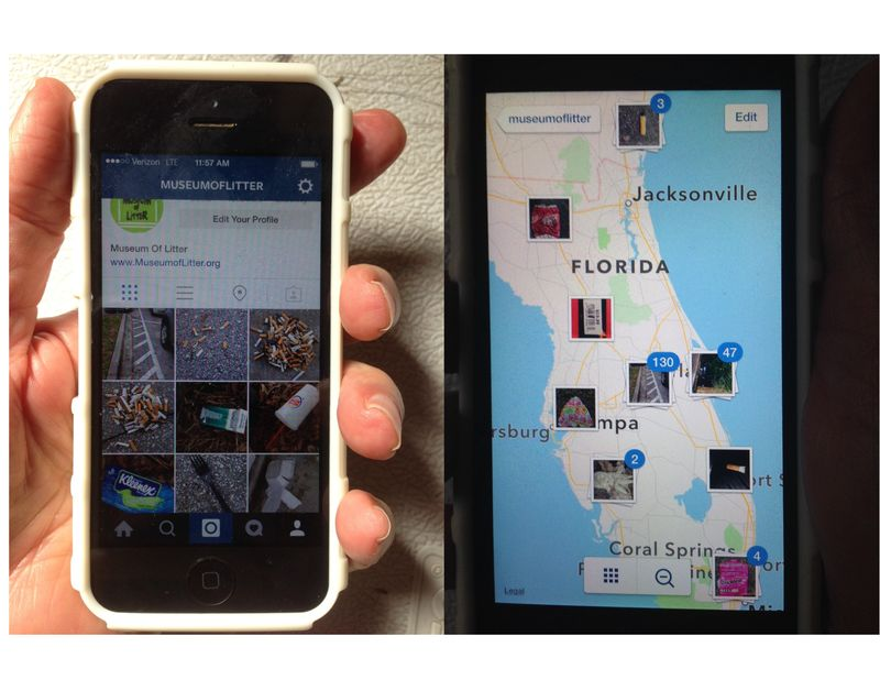 Two views Instagram MOL app in use