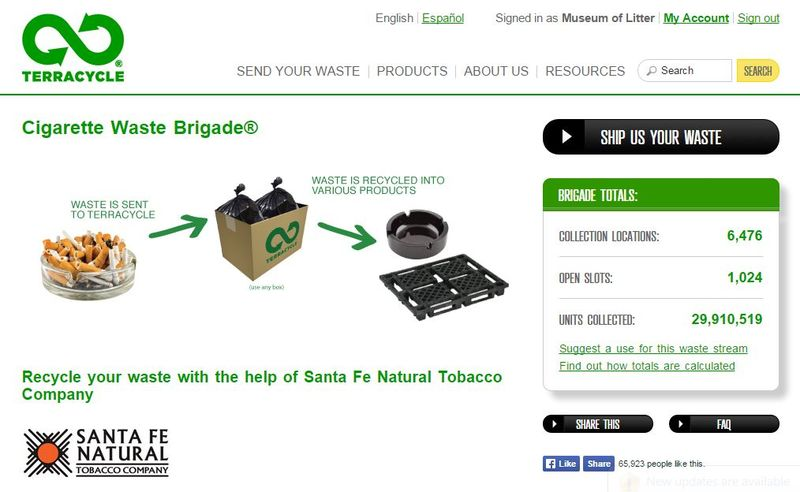 TerraCycle screen shot