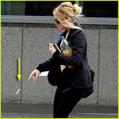Ashley Olsen tossing cigarette butt