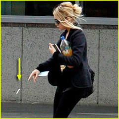 Ashley Olsen tossing cigarette butt
